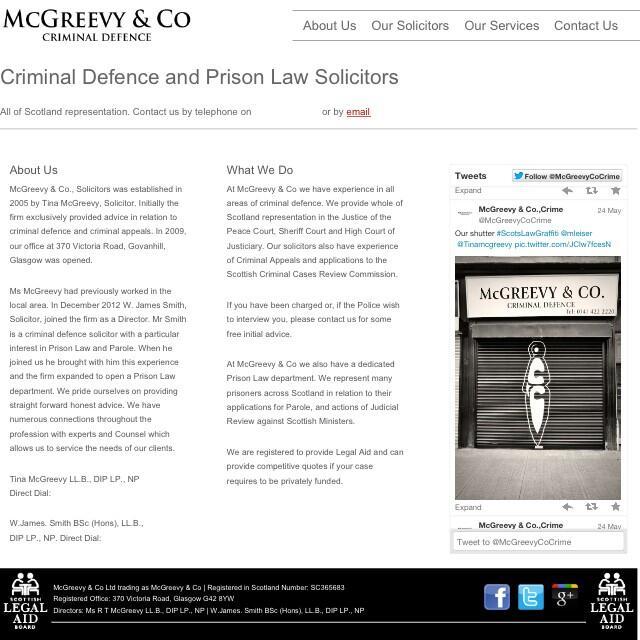 McGreevy & Co Solicitors website