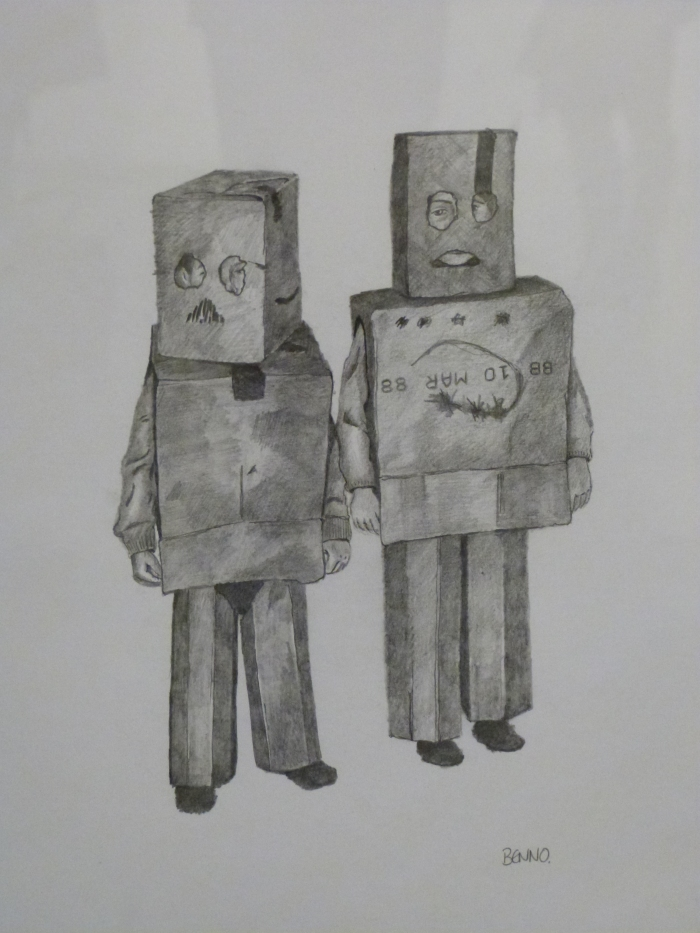 Astro Scout and Zoomer the Robot by Anon, HMP Shotts.