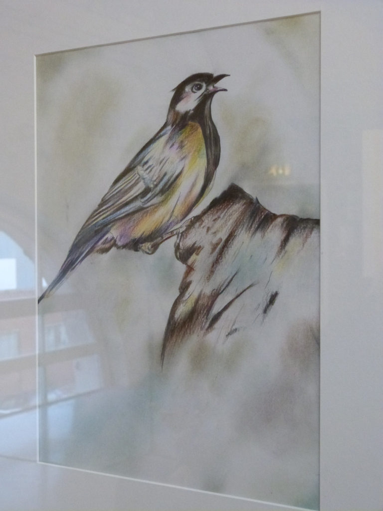 Colourful Bird by Esmail, Dungavel Immigration Removal Centre.